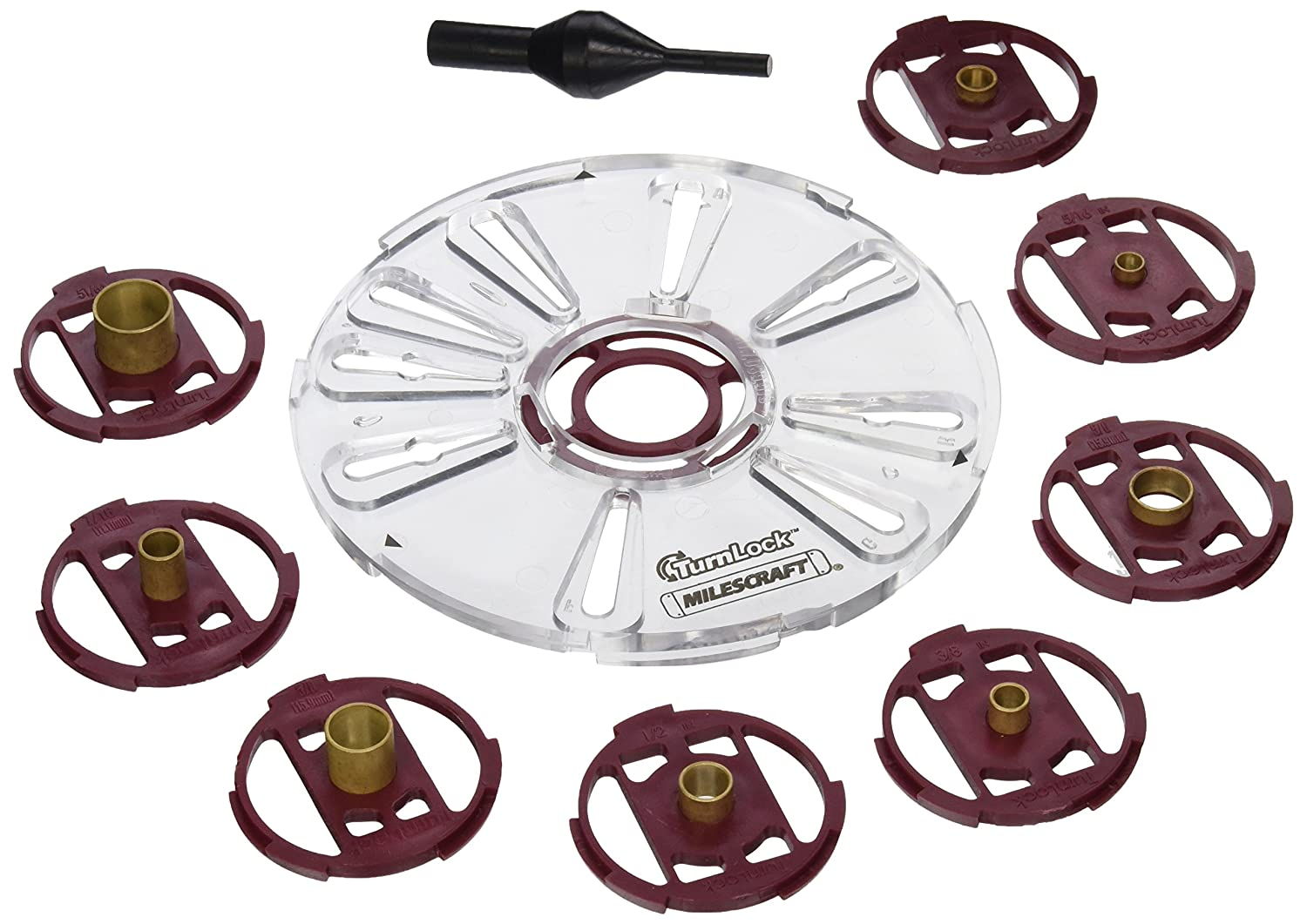Milescraft 1201 Base Plate/Bushing Set for Routers