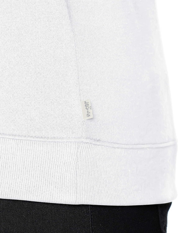 Levi's Plus Size Pl Relaxed Graphic Crew Sweat-Shirt Femme Blanc (Plus Photo White 0005)