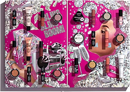 NYX Professional Makeup Calendario de Adviento Set de Maquillaje Diamonds and Ice Please, 24 Productos, Amplia Selección de Maquillaje, Ojos, Labios y Rostro, Óptimo para los Amantes del Maquillaje: Amazon.es: Belleza