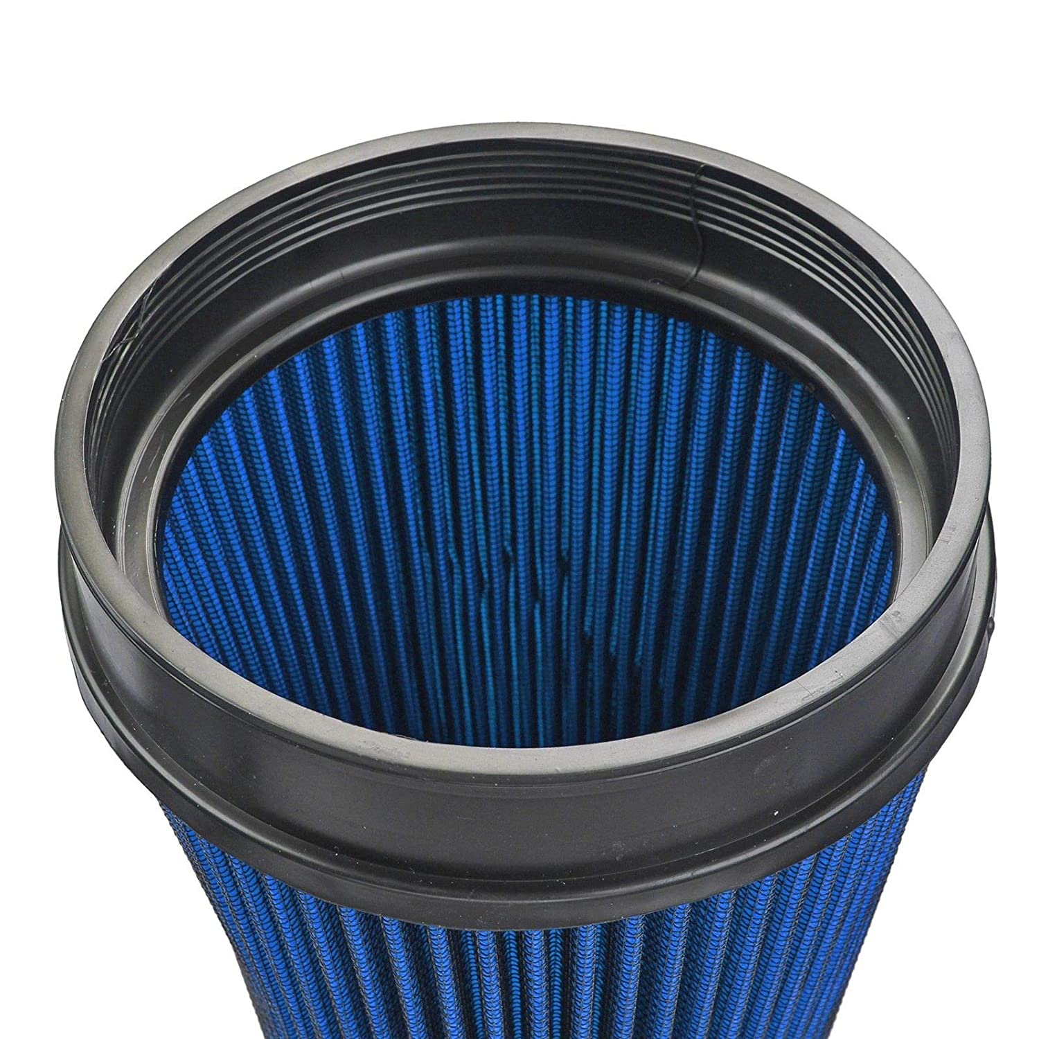 4 Inlet Cold Intake High Flow Round Cone Air Filter Fit for 99-06 GMC//Chevy V8 4.8L//5.3L//6.0L Blue