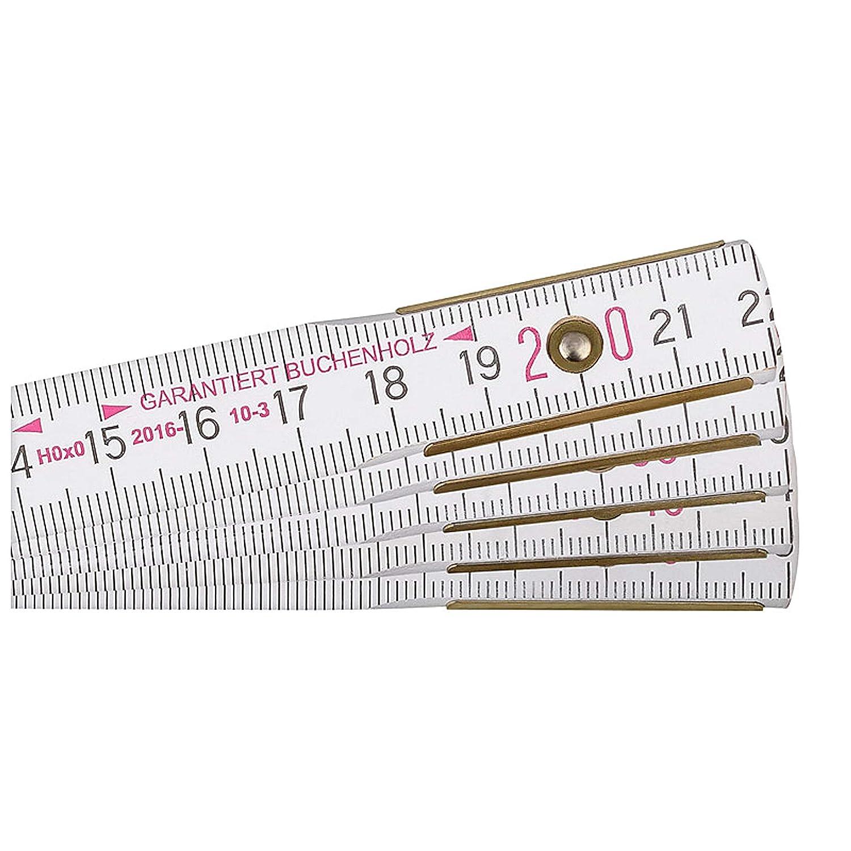 Blanc 2 m BMI 980904200 M/ètre pliant en bois de h/être