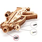 Wood Trick Assault Rifle Toy Gun USG-2 Wooden Model - Guns for Kids - 3D Wooden Puzzle Mechanical Model to Build, Brain Teaser for Adults and Kids - 18 Harmless Bullets Included