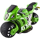 deAO RC Moto GP Racing Bike 4D Experience with Gravity Sensor High Speed and Great Performance Includes Rechargeable Battery and Charger *Green*