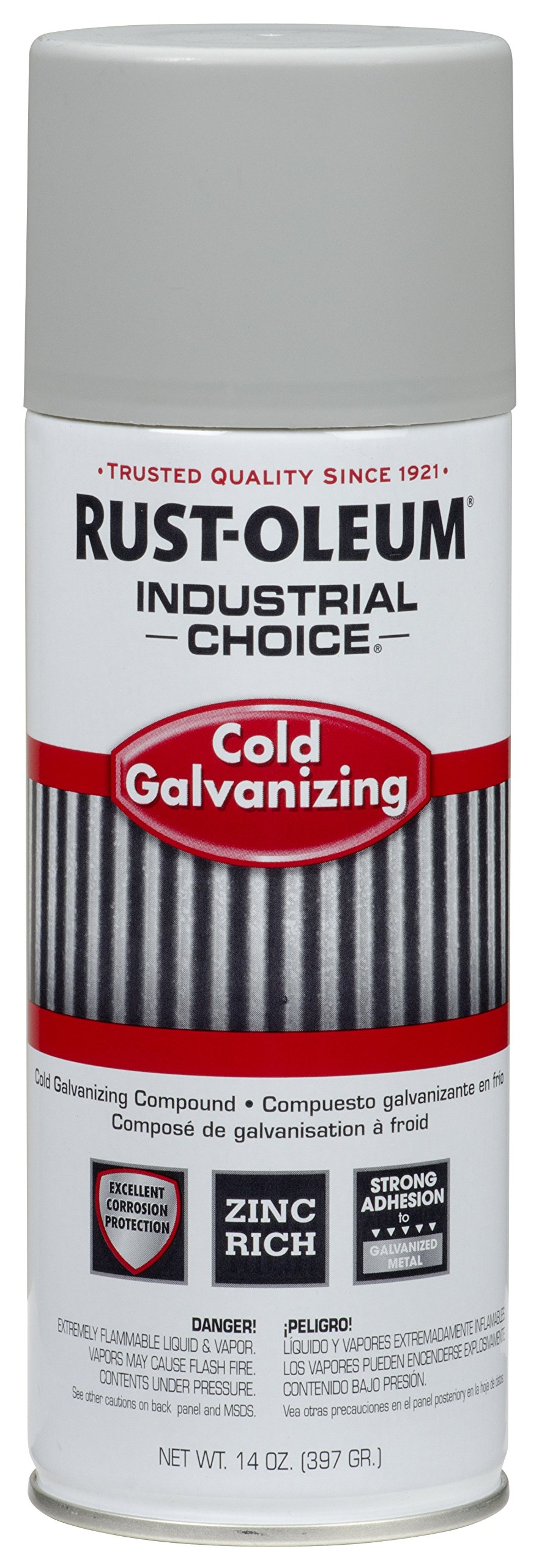 Rust-Oleum 1685830 Cold 1600 System Galvanizing Compound Aerosol, 14 fl oz Container Size, Can (Pack of 6)
