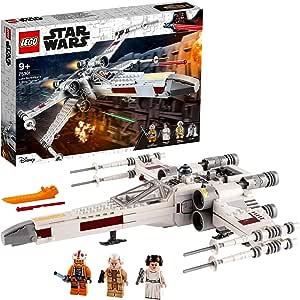 LEGO 75301 Star Wars Caza ala-X de Luke Skywalker Juguete de Construcción con Mini Figuras de Princesa Leia y R2-D2 Droide