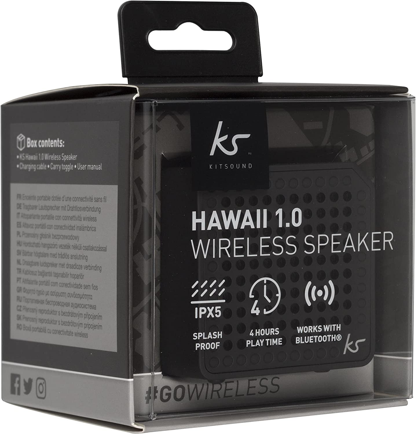 kitsound hawaii 1.0 wireless speaker