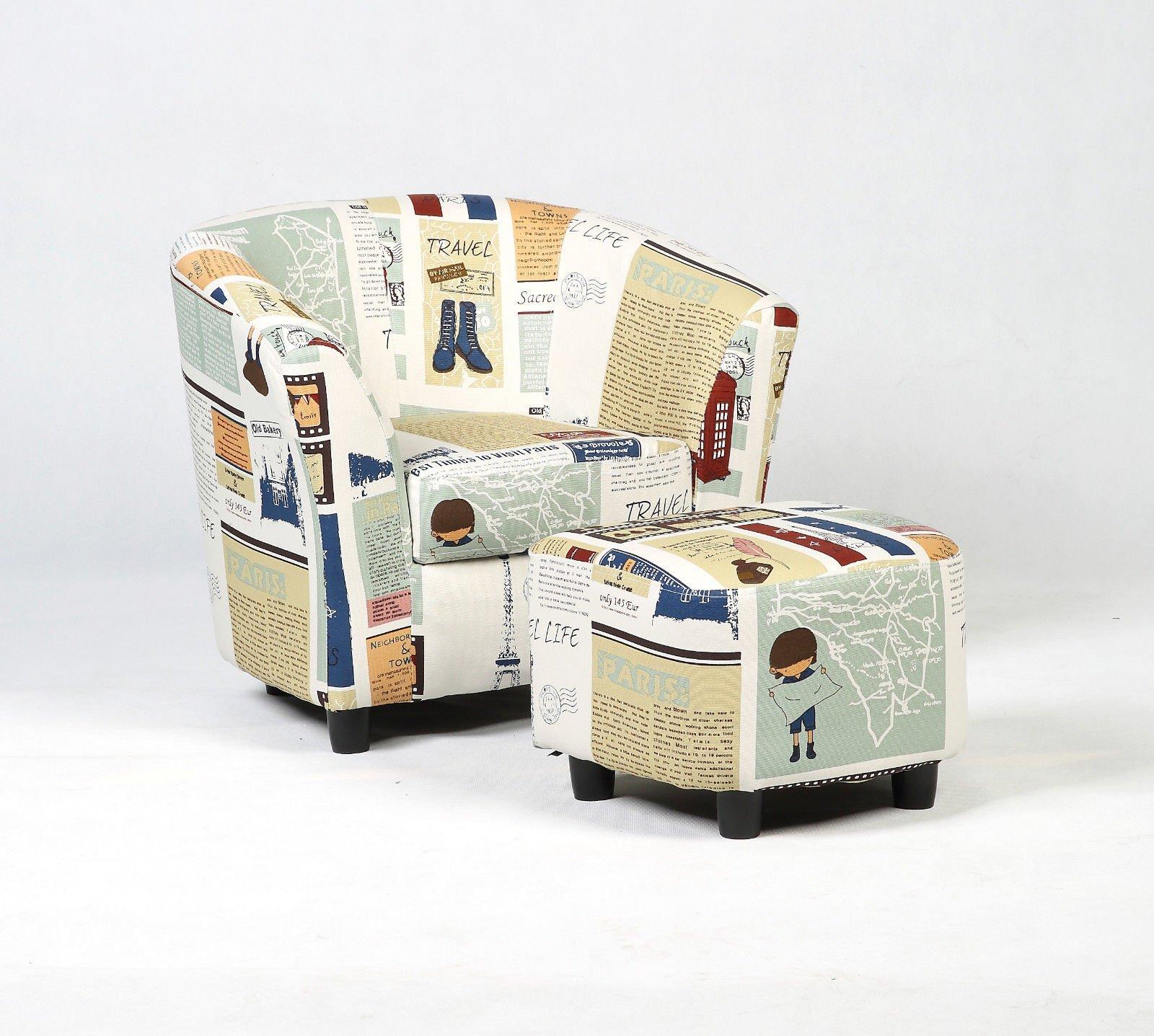 Wood frame+ sponge+canvas Kid Armchair With Ebook