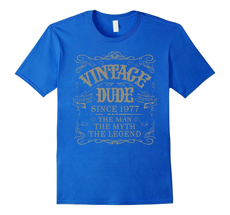 40th Birthday gift shirt Vintage dude 1977 40 year old shirt