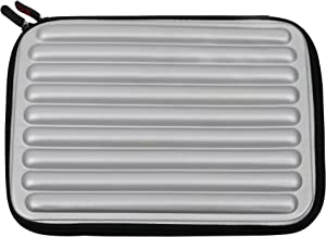 DURAGADGET Silver Laptop Sleeve/Case in Shock-Absorbing & Water-Resistant Memory Foam - Suitable for Use with The Dell Chromebook 11