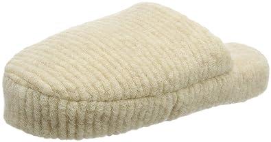 Woolsies Waffle Natural Wool Mule, Zapatillas de Estar Por Casa Para Mujer, Beige-Beige (Cream), 38 EU