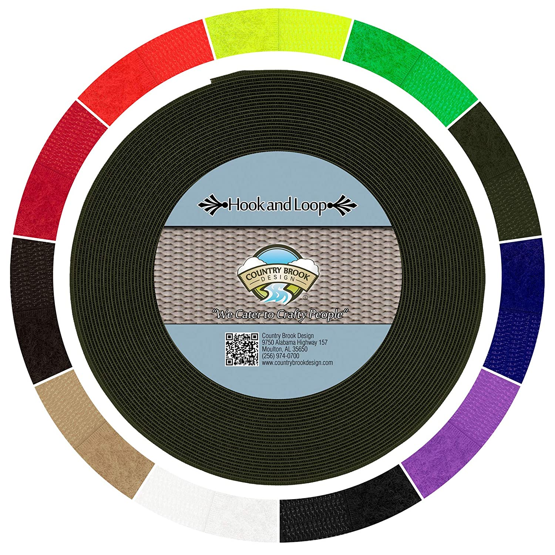 国Brookデザイン2インチOlive Drab Sew Onフック&ループ 50 Yards グリーン HL-ODG-2-50 1  B01N18MVN5