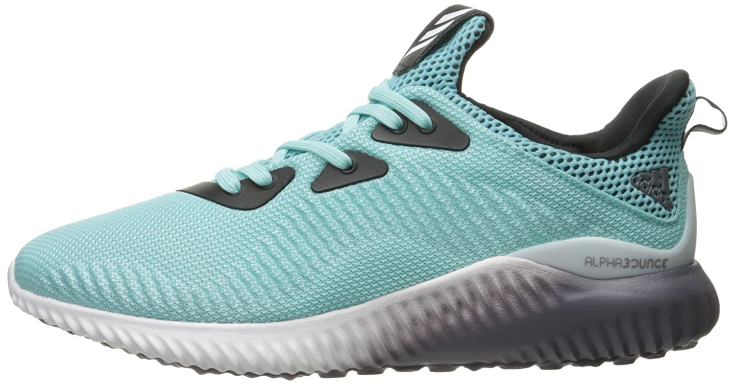 adidas Performance Women's Alphabounce W Running Shoe B01H7WNCXK 9.5 B(M) US|Clear Aqua/White/Trace Grey