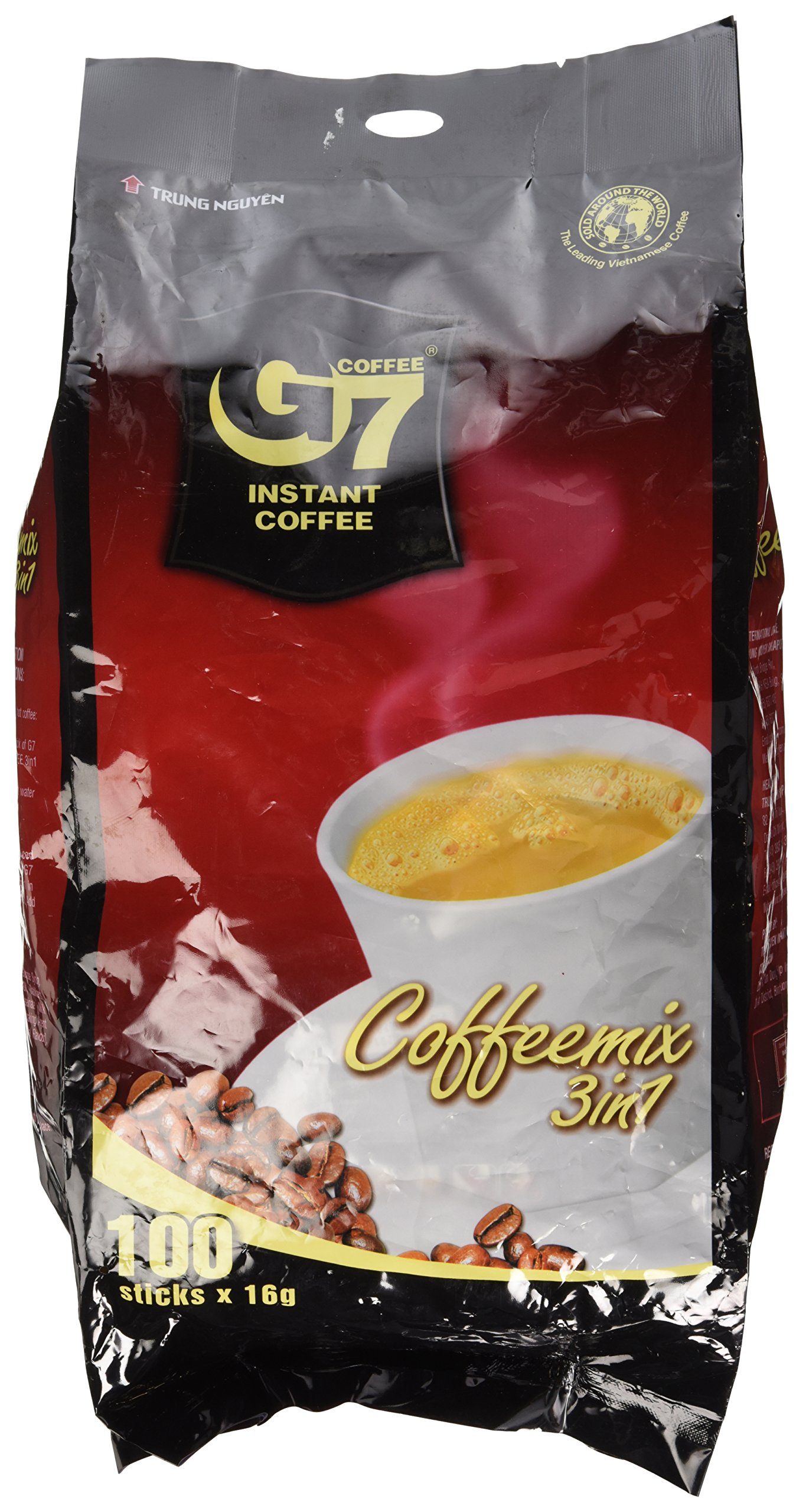 G7 3-in-1 Instant Premium Vietnamese Coffee, 100 Servings/Sachets by TRUNG NGUYEN
