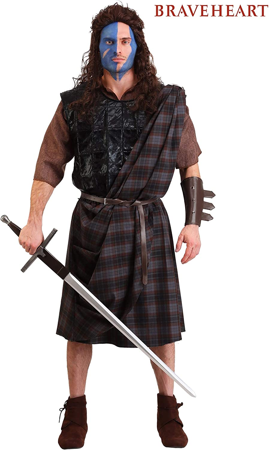 Mens Classic Fancy Dress Costume Braveheart X-Large: Amazon.es ...