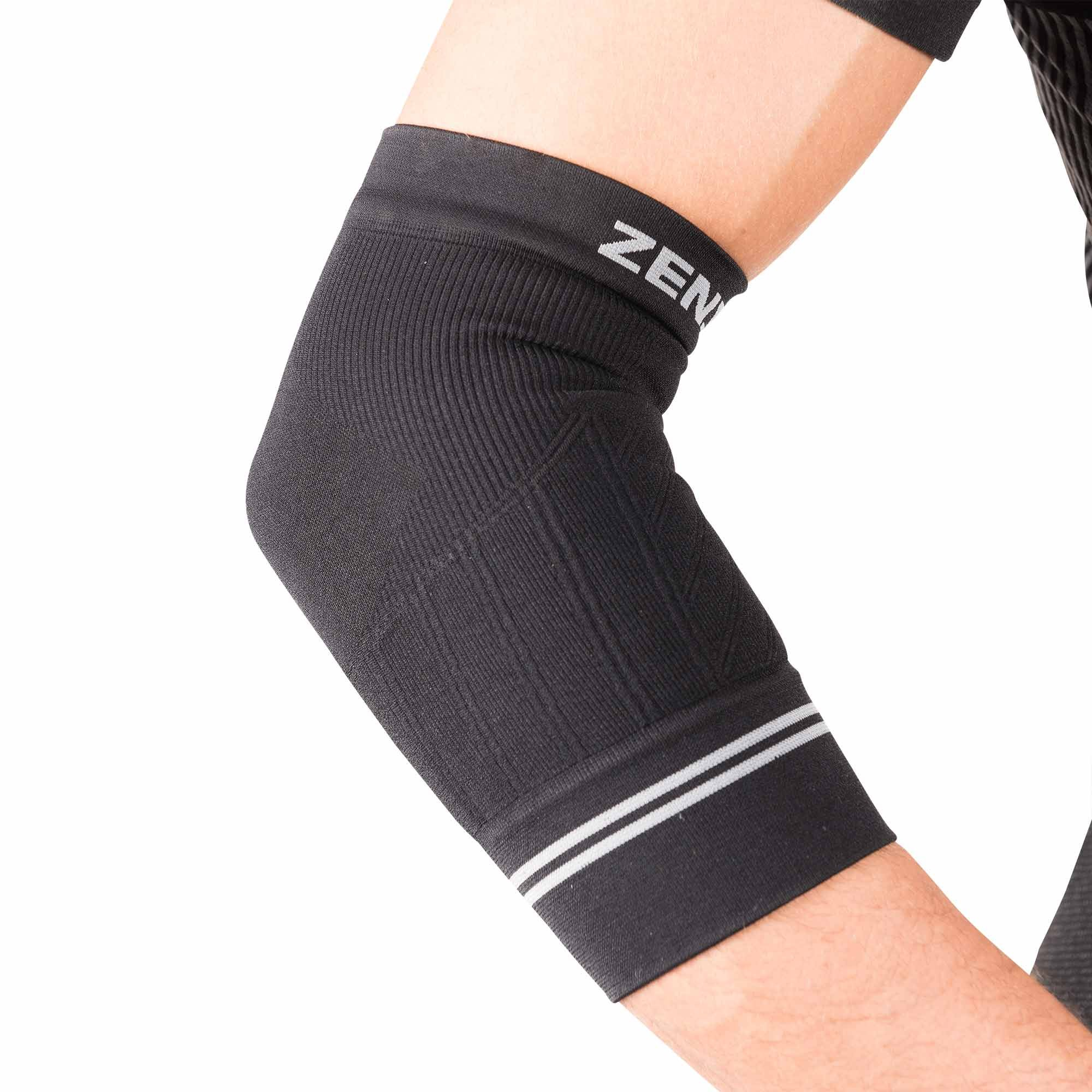 Zensah Compression Tennis Elbow Sleeve for Elbow Tendonitis, Tennis Elbow, Golfer's Elbow - Elbow Support, Elbow Brace,Small,Black by Zensah