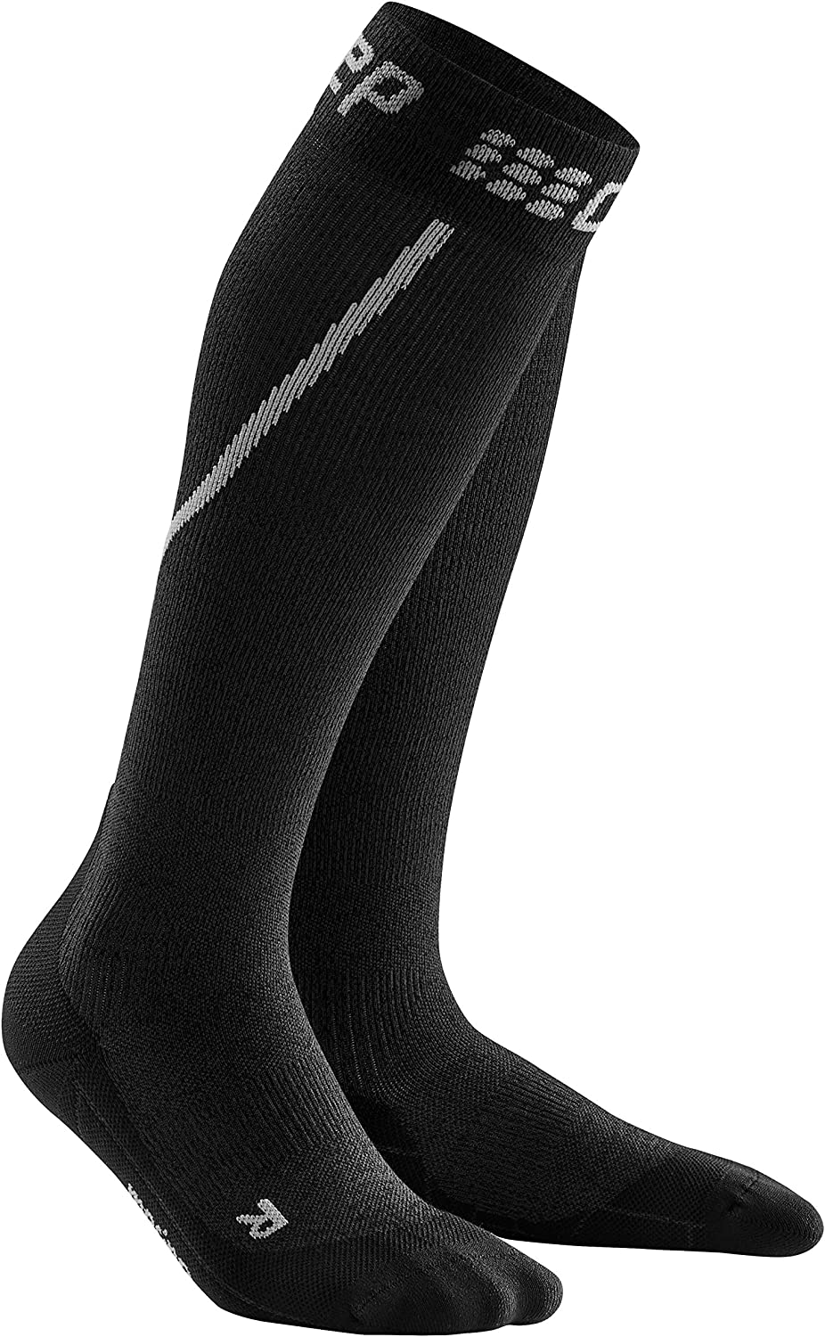 Mens Long Compression Max 43% OFF Wool High material Sock - CEP Trail Grey Black Merino