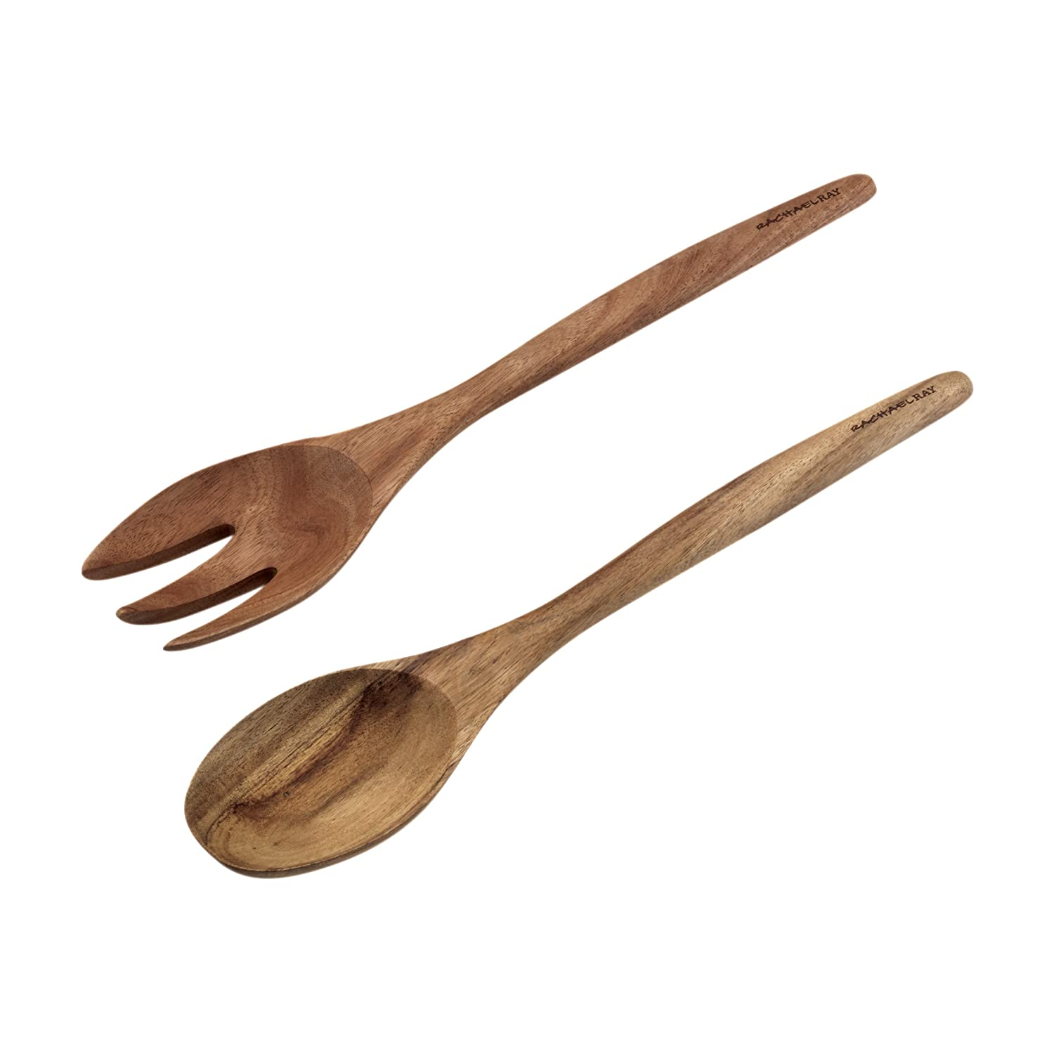Rachael Ray Cucina Tools 2-Piece Wooden Salad Utensil Set Meyer 50728