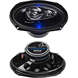BOSS Audio Systems BE694 6 x 9 Inch Car Speakers - 500 Watts of Power Per Pair, 225 Watts Each, Full Range, 4 Way, Sold in Pa