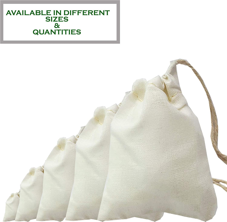 100pcs x (8x10) pulgadas grandes bolsas de algodón bolsas de ...