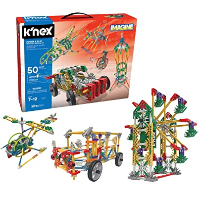 K'NEX Imagine – Power and Play Motorized Building Set – 529 Pieces – Ages 7 and Up – Construction Educational Toy: Toys & Games