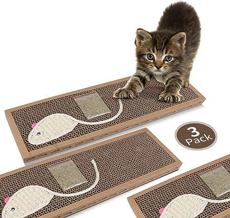 Nobleza - Rascador de cartón para Gatos. Alfombrilla con Catnip ...