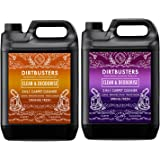 Dirtbusters Clean and deodorise orange Concentrate 1 X 5 Litres and spring fresh 1 x 5L Professional Carpet and Upholstery extraction shampoo solution cleaner With orange Fresh Odour Neutraliser reactivating treatment Built In. Suitable For all Carpet Cleaning extraction Machines including vax , safe for wool carpets and rugs, wont affect colours, neutralise pet odor