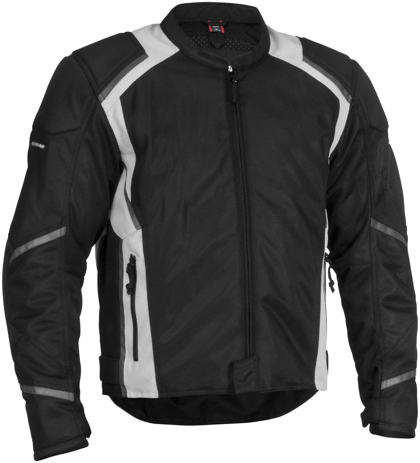 FirstGear Mesh Tex Men's Mesh Sports Bike Motorcycle Jacket - Black/Silver - Tall Large
