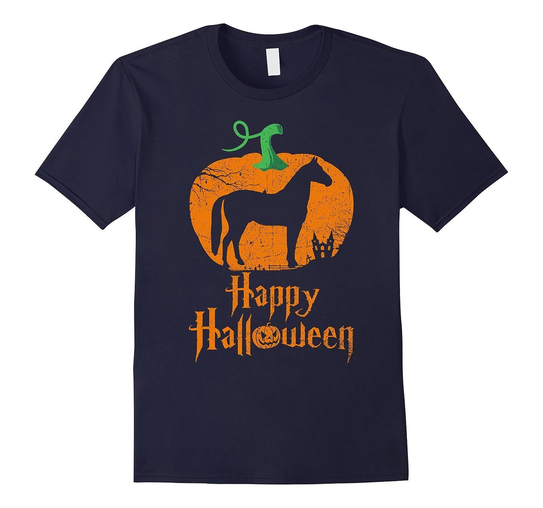 HORSE In Pumpkin Happy Halloween T-shirt HORSE Lovers-FL
