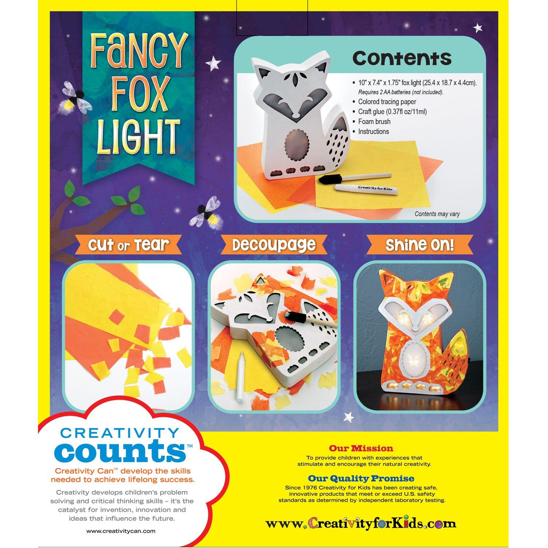 Amazon Com Creativity For Kids Fancy Fox Light Craft Kit Makes 1