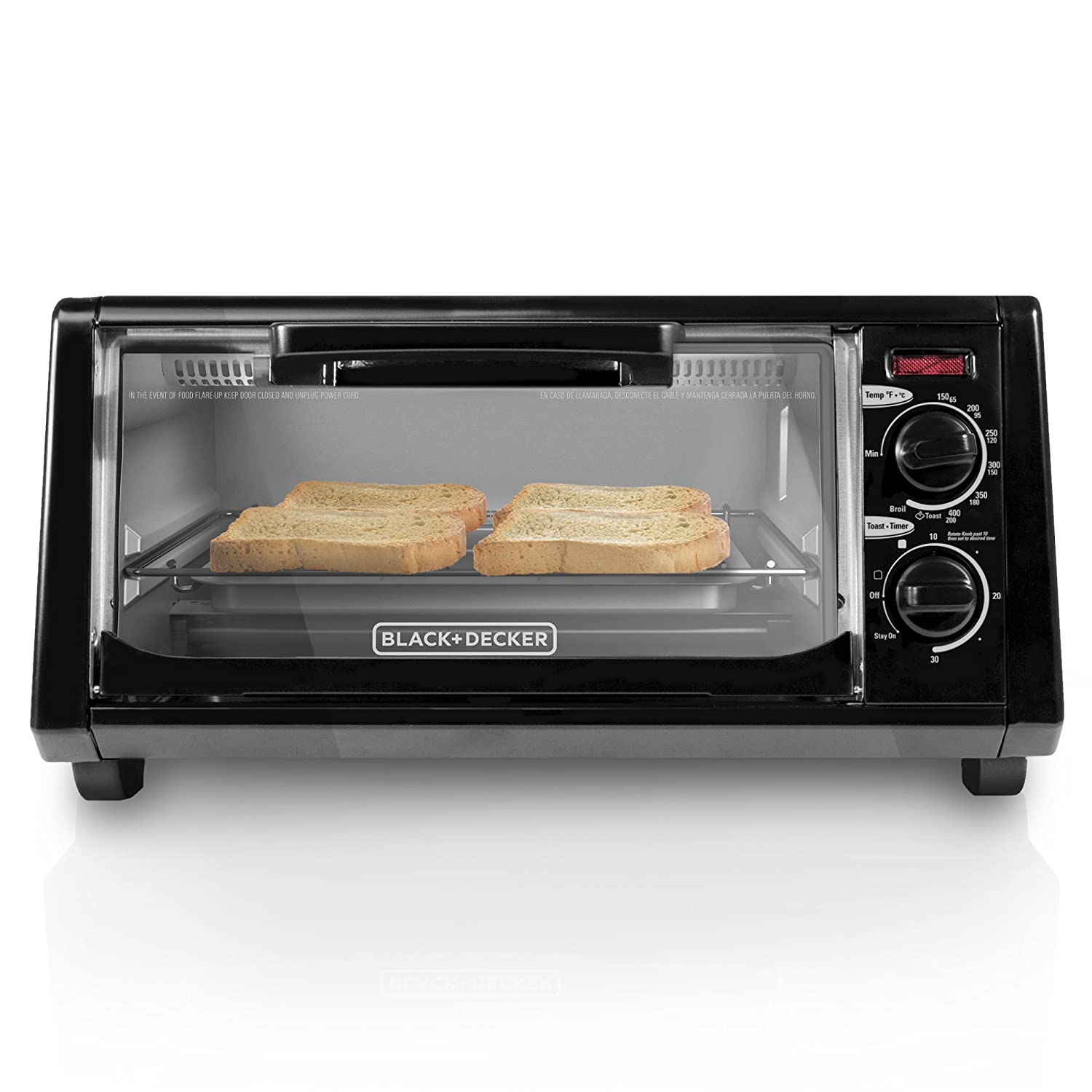 Amazon.com: BLACK+DECKER TO1200B 4 Slice Toaster Oven, Black: Kitchen & Dining