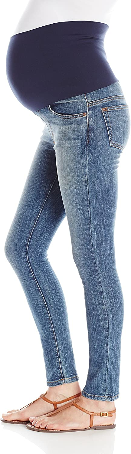 Maternal America Womens Belly Support Skinny Ankle Maternity Jeans