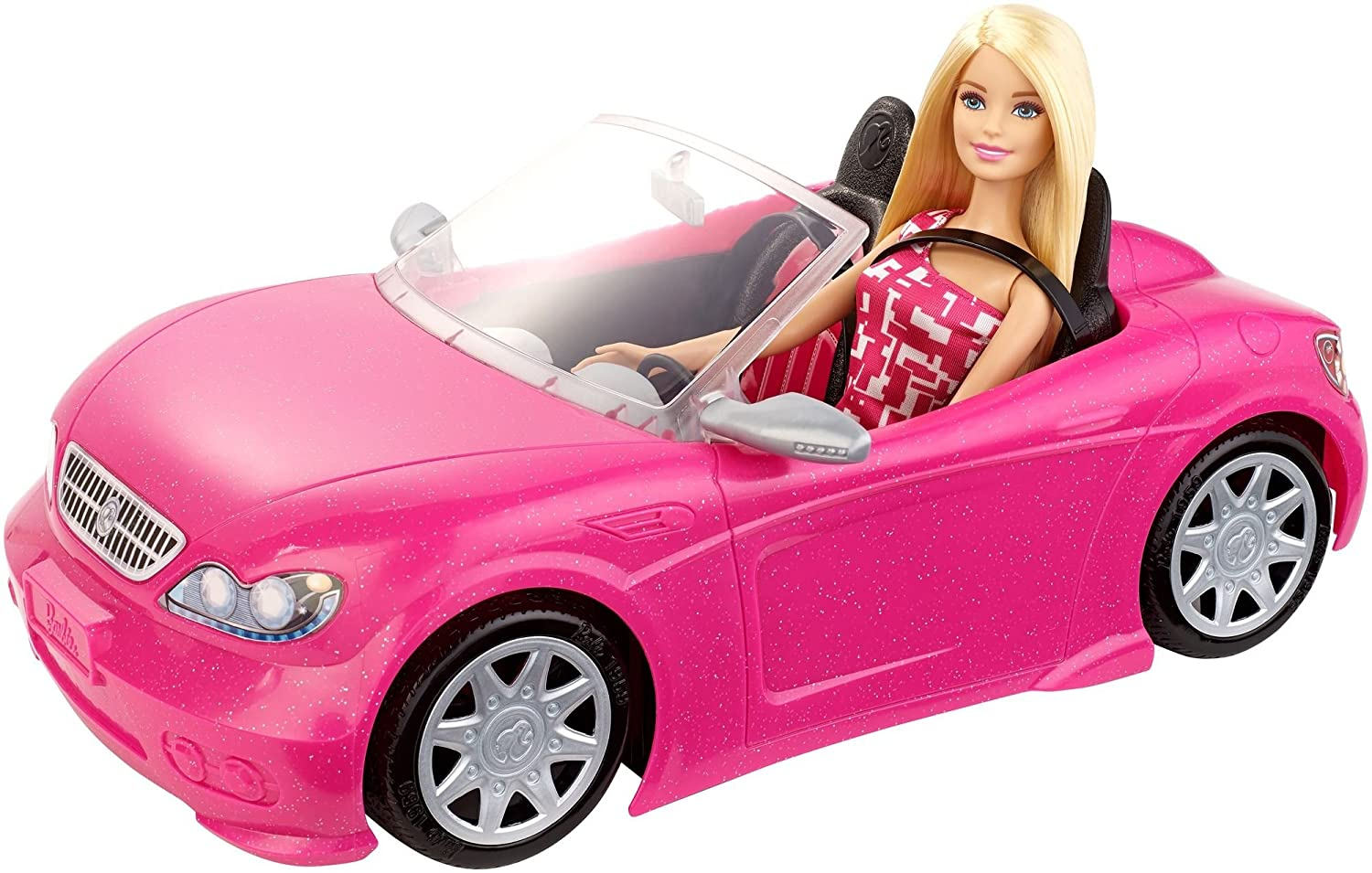 amazoncom barbie convertible and doll pack toys games