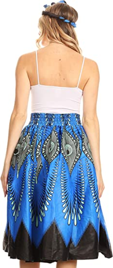 Celine African Dutch Ankara Wax Print Full Circle Skirt