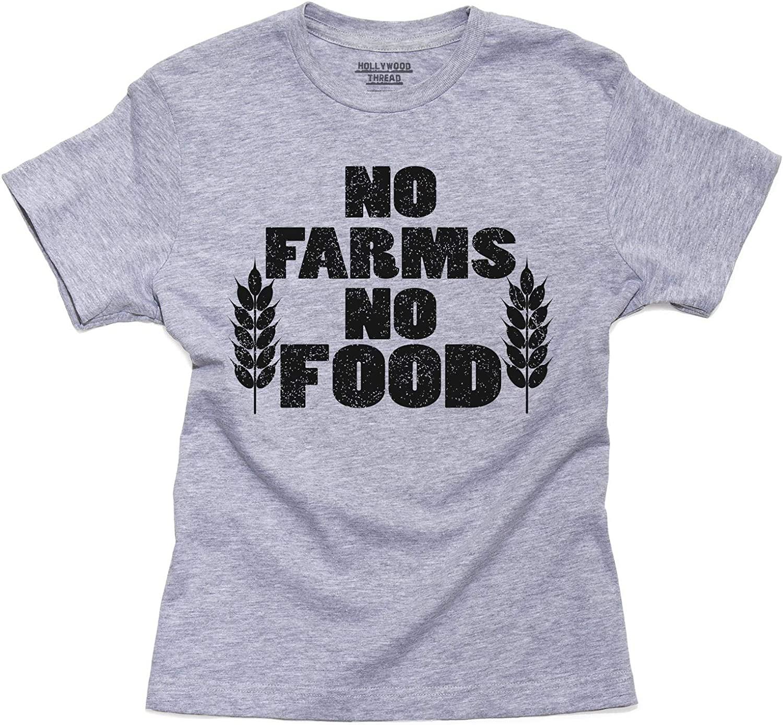 No No granjas de alimentos – agricultor jóvenes de algodón de niño camiseta: Amazon.es: Ropa y accesorios