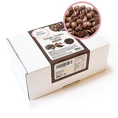 Sweet Wishes Gotas de chocolate con leche belga para fondue. 900 gr. Una delicia