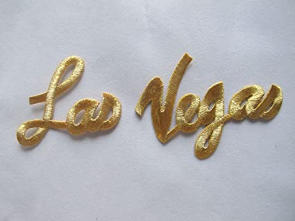Amazon Golden Word Las Vegasembroidery Iron On Applique Patch