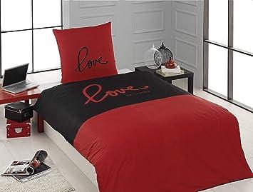 Renforce 100/% Baumwolle 2-3tlg Uni Bettgarnitur Bettbezug Bettwäsche 135-155x200