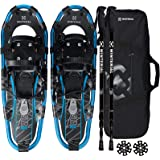 Winterial 25 Inch Light Weight Shasta Snow Shoes for Men, Women, Youth, Aluminum Rolling Terrain Snowshoes with Trekking Pole