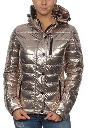 timeless design 81ef0 76e2f Superdry Jacke Damen Fuji Slim Double Ziphood Rose Gold Spot ...