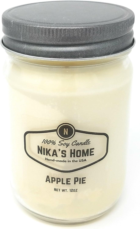 Nika's Home Apple Pie Soy Candle - 12oz Mason Jar