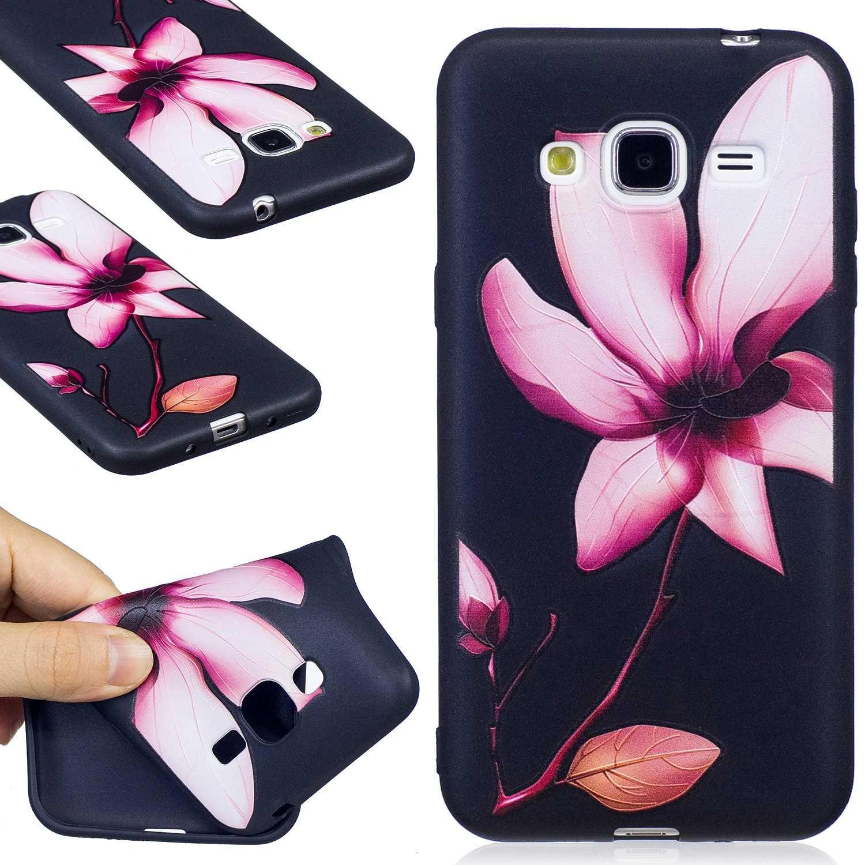 Magnolia Guran/® Custodia in Silicone per Samsung Galaxy J3 2015//2016 J310 Smartphone Morbida TPU Gel Gomma Case Protettiva Cover