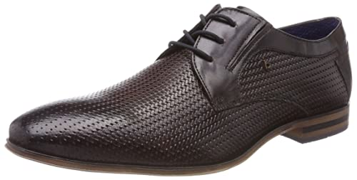 Mens 311252042115 Derbys, 6140-Dark-Brown-Blue Bugatti