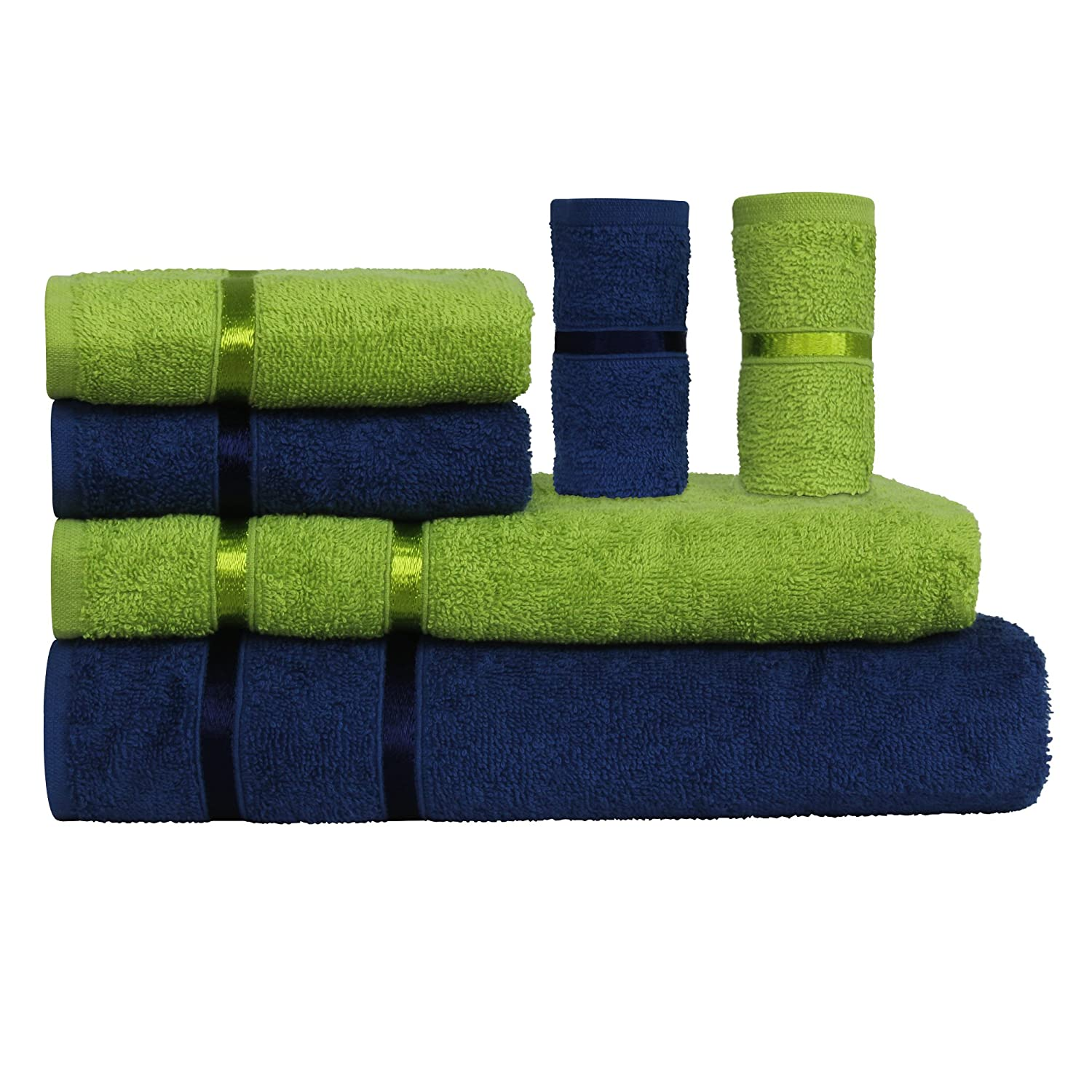 Story@Home 6 Pieces 450 GSM Cotton Towel Set for Couples -