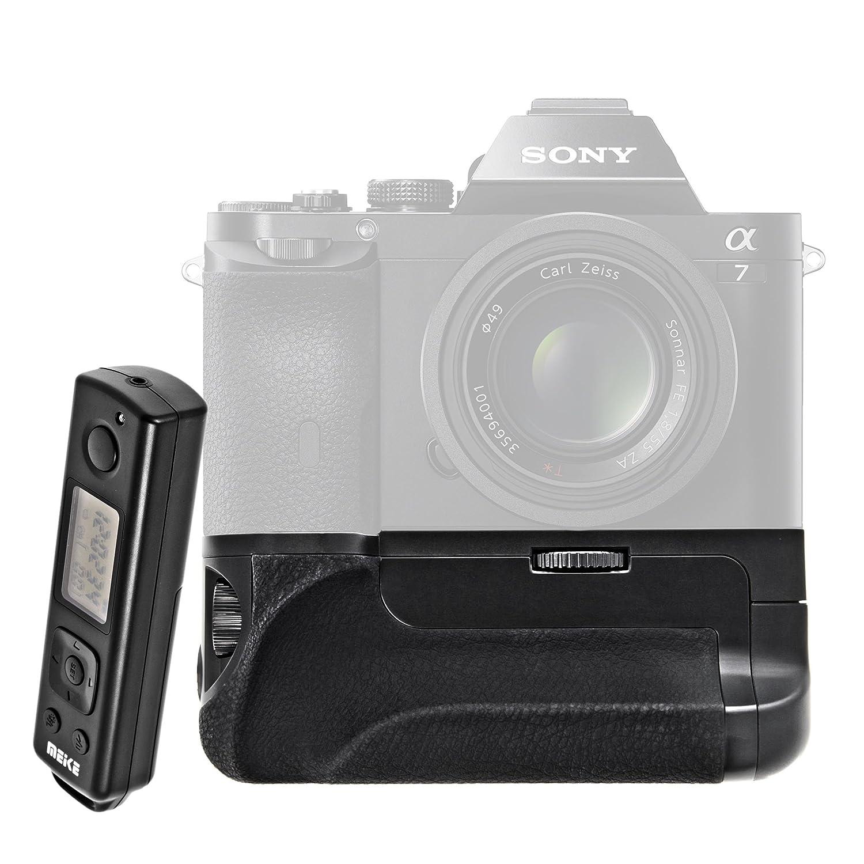 Meike LCD temporizador de empu/ñadura de bater/ía para Sony A7//A7r//A7s la funci/ón del temporizador mediante mando a distancia con disparador de gran formato como la Sony VGC1EM capacidad para