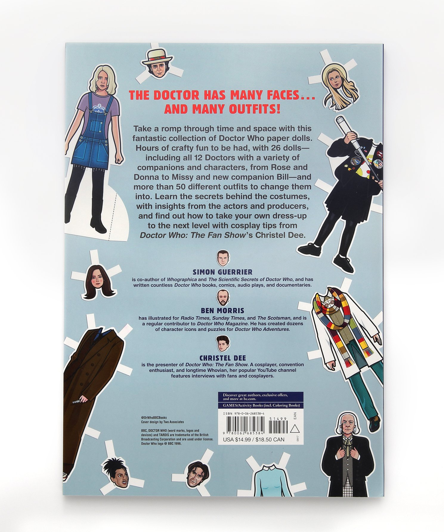 Doctor Who Paper Dolls Simon Guerrier Christel Dee 9780062685384 Amazon Books