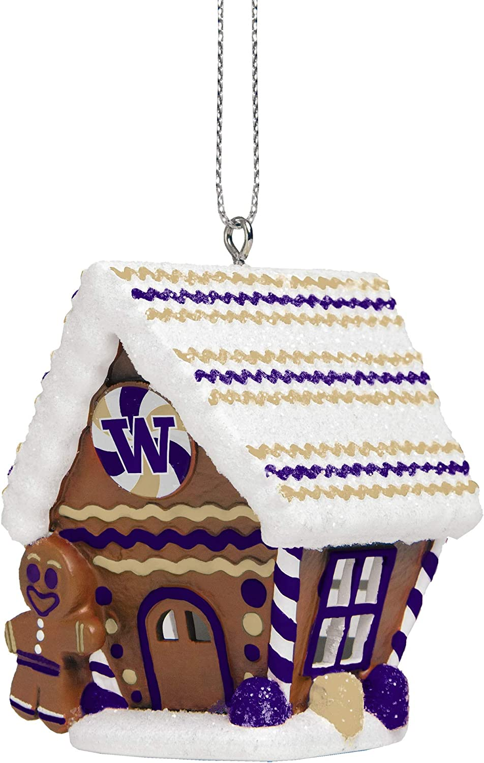 FOCO NCAA Unisex-Adult Gingerbread House Holiday Christmas Tree