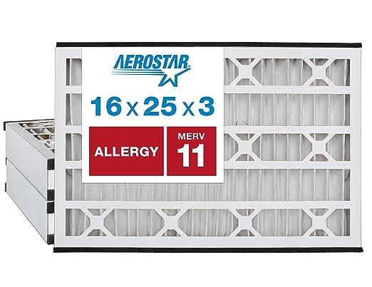 AirX filtri allergia 16x16x1 Filtro dell/'aria ricambio plissettato Merv 11 6-Pk