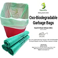 NaturePac Garbage Bags Biodegradable For Kitchen,Office,Medium Size (Green,48cmx56cm,90 Bag)