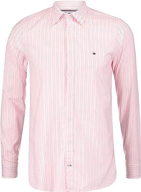 Camisa Tommy Hilfiger Rayas Rosa Hombre L Rosa: Amazon.es: Zapatos y complementos