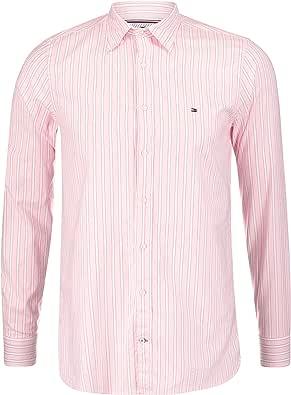 Camisa Tommy Hilfiger Rayas Rosa Hombre L Rosa : Amazon ...